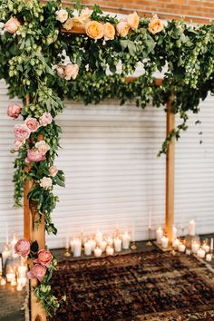 dusty pink and peach flowers - photo by Plum and Oak Photo http://ruffledblog.com/a-must-see-industrial-wedding-with-gorgeous-florals