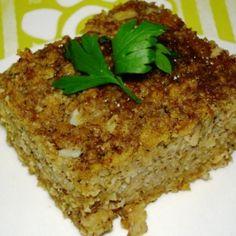 Receita de Kibe Assado Vegetariano - kibe de molho por 20 minutos. Enquanto isso, prepare os temperos. Bata todos no liquidificador com o tomate, hortelã...