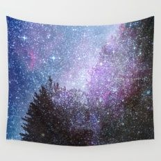 Stars forest..... Cosmic. Wall Tapestry
