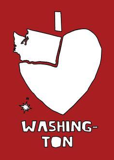 I love Washington 5x7 print by linedraw on Etsy. $15.00, via Etsy.