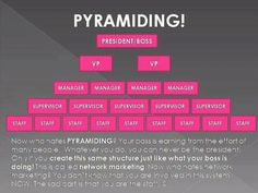 Great explaination About piramids and network marketing