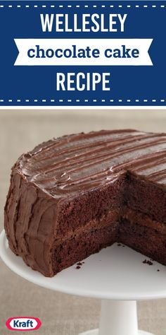 Wellesley Chocolate Cake Recipe – Look no further than this one for the perfect chocolate cake recipe. This dessert idea is filled with everyone's favorite chocolate—making it an unbeatable classic for any celebration.