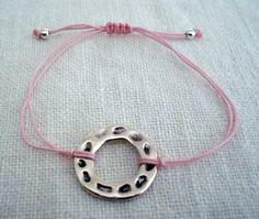 Silver ring bracelet Eternity circle bracelet Charm by PrintCorner