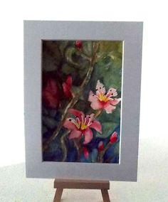 Aquarell – Hibiskusblüten - MarikArt