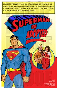 Superman Was Adopted by SuperArtworks on Etsy, $35.00