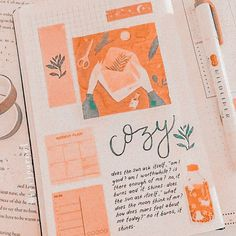 Bullet Journal Aesthetic, Bullet Journal Spread, Bullet Journal Inspo, Cute Notes, Aesthetic Pictures, Stationery, Artsy, Crafty, Lettering