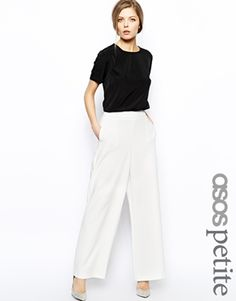 Enlarge ASOS PETITE Trousers With High Waist In Wide Leg
