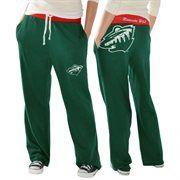 Minnesota Wild Ladies Recruit Fleece Pants - Green