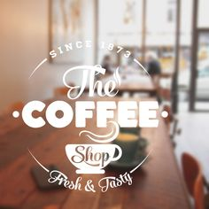 Coffee shop wall art sticker Cafe restaurant vinyl decal quote cof4