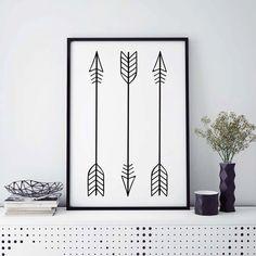 Arrow Print Tribal Arrow Art Whimsical Art by saltstudioprints