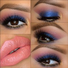 Blue smokey with a hint of gold