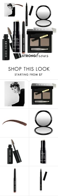 """Nobody did brows like Audrey"" by alisafranklin on Polyvore featuring beauty, Bobbi Brown Cosmetics, MAC Cosmetics, BeautyTrend, strongbrows and boldeyebrows"