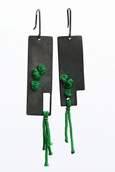 Jewelry OFF! Green Revolution by YaraJewelryDesign on Etsy Paper Jewelry, Jewelry Crafts, Jewelry Art, Jewelry Design, Leather Necklace, Leather Jewelry, Metal Jewelry, Recycled Jewelry, Handmade Jewelry