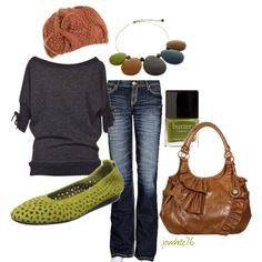 A fashion look from March 2012 featuring Souffle tops, BKE jeans and Arche flats. Browse and shop related looks.