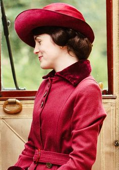 Lady Mary of Downton Abby ( love the coat n hat and her in red)