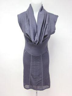 NWT CATHERINE MALADRINO Purple Knit Collared Sleeveless Dress Sz M at www.ShopLindasStuff.com