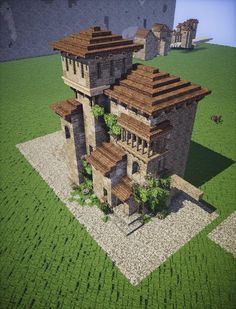 This is Actually Minecraft! - Minecraft World Minecraft World, Minecraft Castle, Minecraft Plans, Minecraft Houses Blueprints, Minecraft Survival, Minecraft Tutorial, Cool Minecraft Houses, Minecraft Designs, Minecraft Creations