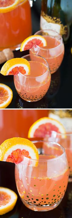 This recipe for a Blood Orange Champagne Sparkler is the perfect New Year's Eve cocktail! Enjoy this easy drink while watching the ball drop. Happy New Year!
