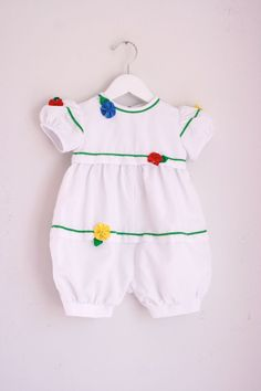 Vintage toddler girl's romper by Sylvia White for Saks Fifth Avenue 2t by fuzzymama on Etsy