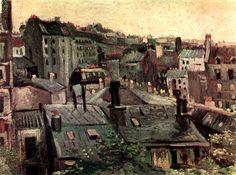 """Paris on Twitter: """"Van Gogh. Toits de Paris. 1886… """""""