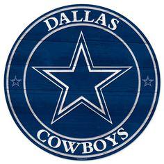Dallas Cowboys Round Wood Sign | Dallas Cowboys Clothing | Dallas Cowboys Store - Dallas Cowboys Pro Shop