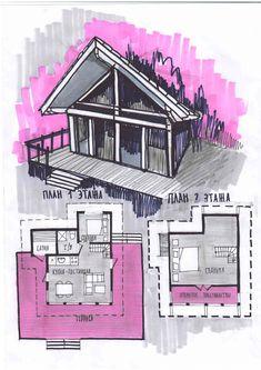 Проект бани-дома Floor Plans, House Floor Plans