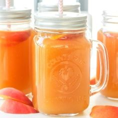 Simple homemade peach iced tea is the perfect summer drink. So refreshing, so peachy, so sweet and so perfect. | aheadofthyme.com