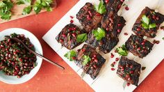 Pomegranate molasses is Martha's secret ingredient for the most flavorful grilled steak skewers.