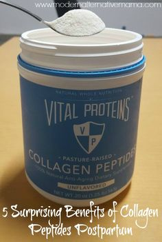 Collagen peptides are excellent for postpartum moms, for these 5 reasons. Plus, an amazingly healthy and delicious postpartum tea recipe!