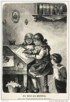 Der Brief Ans Christkind U Brunner Druck Entnommen Aus Die Gartenlaube 1898 Zu Verkaufen Auf Delcampe Brief Ans Christkind Christkind Drucken