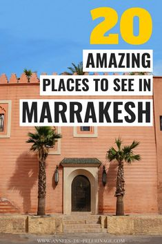 The 20 best things to do in Marrakech, Morocco. This detailed Marrakesh travel guide will show you the top tourist attractions and points of interest in the imperial city. All the best places to see in Marrakesh in one guide. Marrakech Travel, Morocco Travel, Africa Travel, Vietnam Travel, Italy Travel, Marrakesh, Marrakech Morocco, Africa Destinations, Amazing Destinations