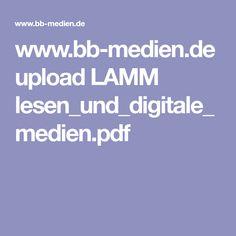 www.bb-medien.de upload LAMM lesen_und_digitale_medien.pdf Digital Media, Lamb, Reading