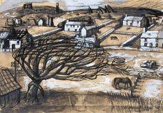 'Cornish Landscape' by Wilhemina Barns-Graham Urban Landscape, Landscape Art, Landscape Paintings, Paintings I Love, Seascape Paintings, Scilly Isles, Advanced Higher Art, West Cornwall, Closer To Nature