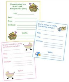 Free Printable Baby Shower Invitations, from ducky baby shower invites thru to Noah's Ark, baby boy and girl baby shower invitation templates, free sprinkle invitations and more.