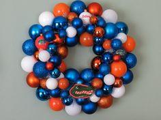 FLORIDA GATORS Ornament Wreath