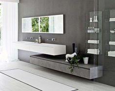 Best Bathroom Designs - Photos of Beautiful Bathroom Ideas Best Bathroom Designs, Contemporary Bathroom Designs, Bathroom Design Small, Modern Bathroom, Bathroom Ideas, Dark Bathrooms, Beautiful Bathrooms, Bathroom Showrooms, Bathroom Interior