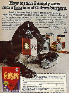 1979 Blue Roan Parti Cocker Spaniel Gaines Dog Food Ad | eBay