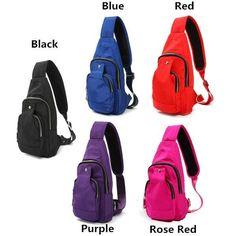 c86ba1141a00 Unisex Sports Nylon Waterproof Chest Crossbody Bag-Handbags-Loluxe Backpack  Purse