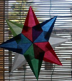 LAVORETTI PER NATALE – stella di carta trasparente – modello 8 – Lapappadolce