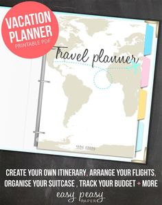 Take your trip with Glamulet charmsKeep your vacation stress-free with your very own vacation planner and travel organizer. Your holiday planner will take away any worries you have Vacation Planner, Budget Planner, Travel Planner, Road Trip Planner, Vacation Packing, Cruise Vacation, Life Planner, Happy Planner, Vacations