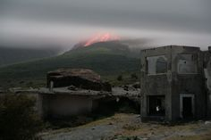 """This whole page is photos of Montserrat, """"the Caribbean Pompeii""""."""