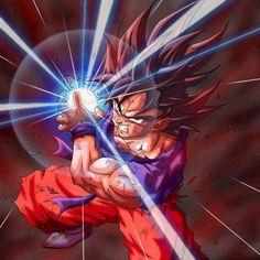 Goku Haciendo un Kame Hame Ha!!!!