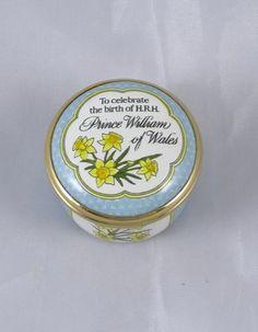 Halcyon Days Enamel Trinket Box Birth of H R H Prince William of Wales 1982   eBay