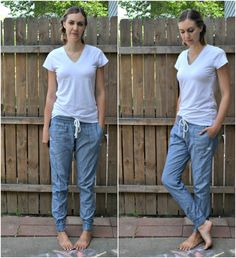 I got such a great response on my first denim jogger hudson pants that I decided to make another pair and make a mini tutorial so you al...