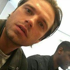He looks good at any angle. Damn!😍