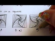 How to draw tanglepattern Paradox (in a square, triangle, circle and organic shape) - YouTube