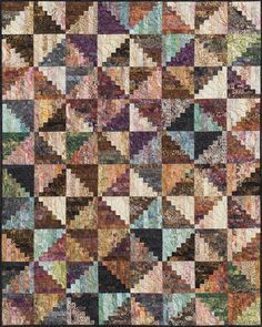 log cabin quilt patterns | ... split log cabin fabric kit select pattern kit with pattern add