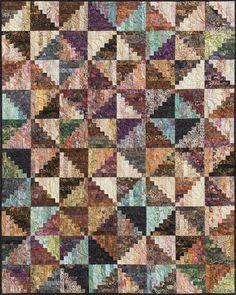 log cabin quilt patterns | ... split log cabin fabric kit select pattern kit with pattern add