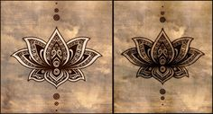 Lotus mandala tattoo. I prefer the one of the right without the white
