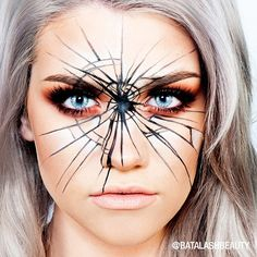 """@ssssamanthaa from @batalashbeauty with her finished cracked glass Halloween look! Double tap if you love! Keep tagging #NYXHALLOWEEN for a chance to…"""
